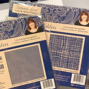Two sets of Fabric/Knitted Embossing Folders